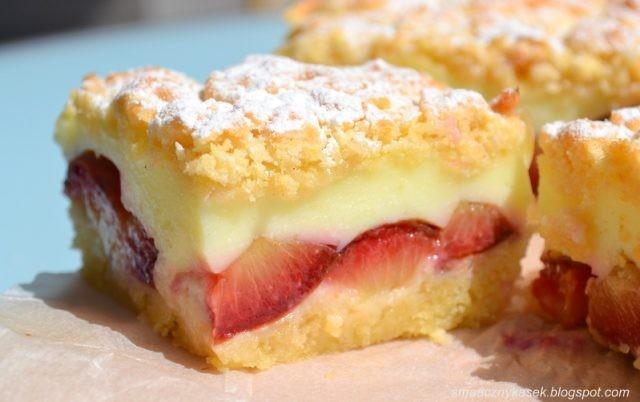Švestkový koláč s pudinkem, výborný recept