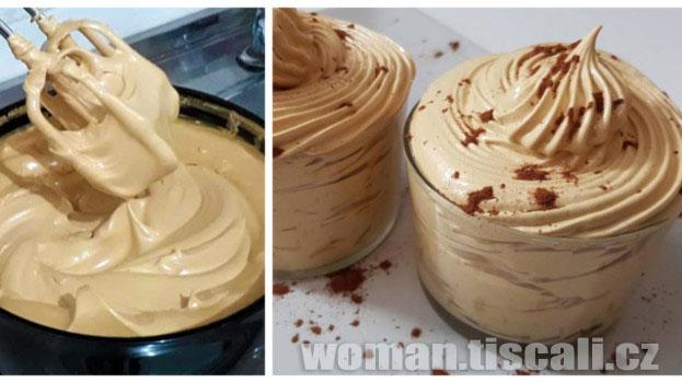 Kávový krém za 2 minuty: Není třeba tvaroh, smetana a ani drahé mascaprone – chutná jako z cukrárny !