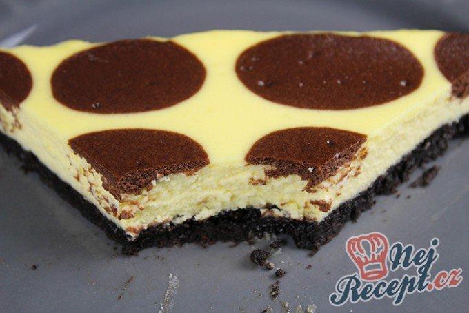 Tečkovaný cheesecake