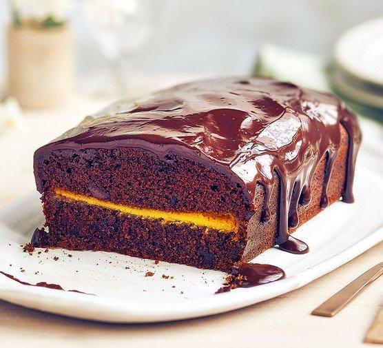 Marcipánový čokoládový koláč