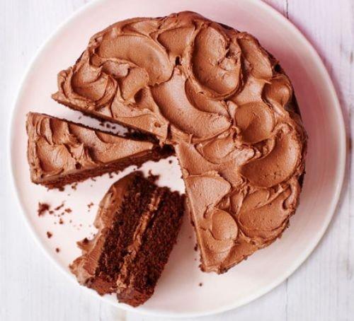 Čokoládový piškotový dort
