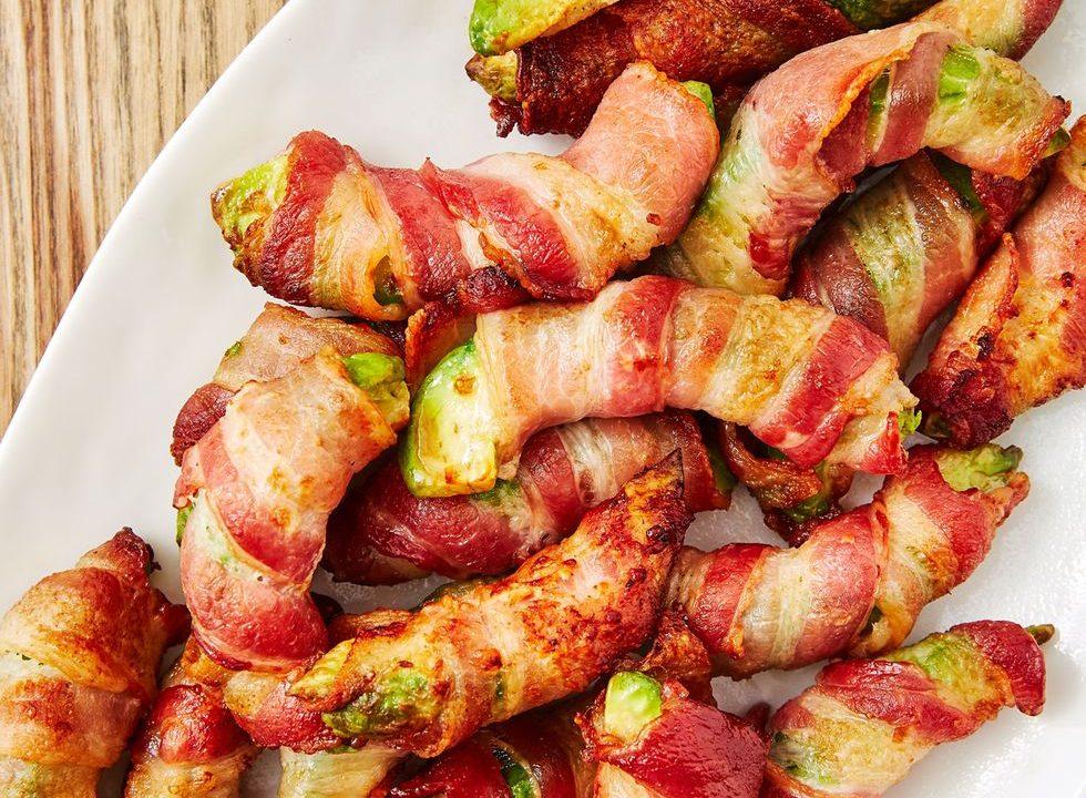 Hranolky se slaninou a avokádem