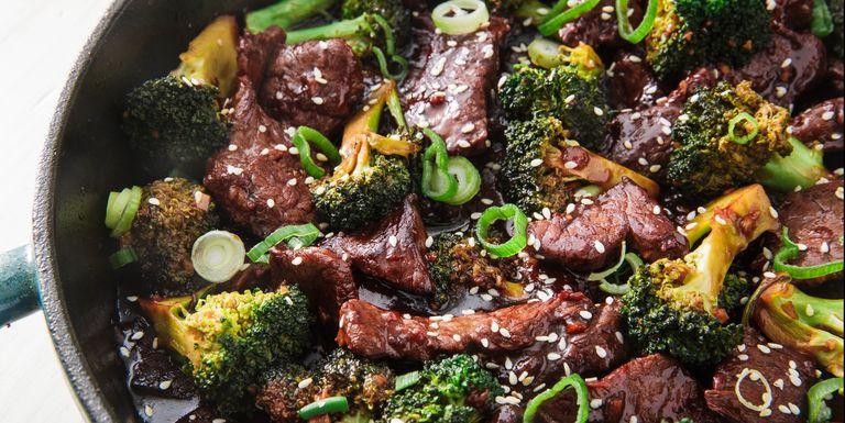 Hovězí maso a brokolice