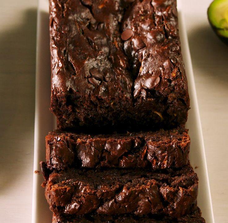 Čokoládový avokádový chléb