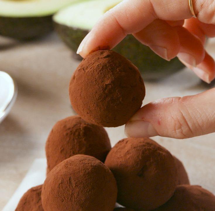 Keto čokoládové lanýže