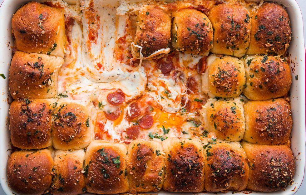 Pull-Apart česnekový chléb Pizza Dip