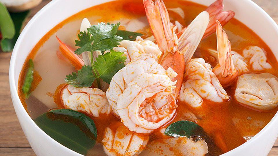 Thajská krevetová polévka s thermomixem
