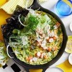 Omeleta s krevetami a bylinkami